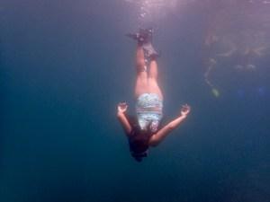 Girl dives Tobago