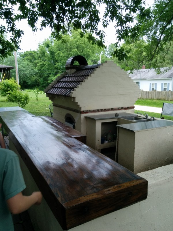 Awesome brick oven