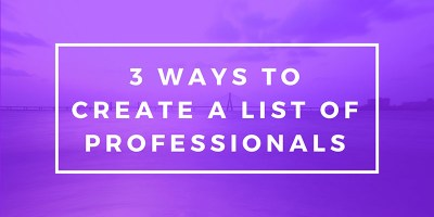 how to create a list of leads