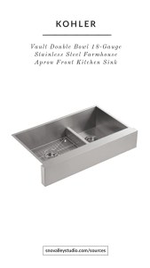 Sink: Kohler – Vault™35-1/2″ Smart Divide® undermount double-bowl