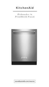 Dishwasher: KitchenAid – 46 DBA Dishwasher with Bottle Wash Option and PrintShield™ Finish