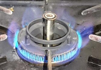 ガスコンロの炎