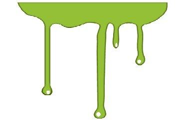 チクソトロピー性(チクソ性)流体であるペンキが垂れる様子を示したイラスト。