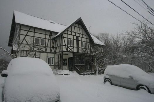 裏磐梯の今日の積雪