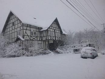 裏磐梯積雪