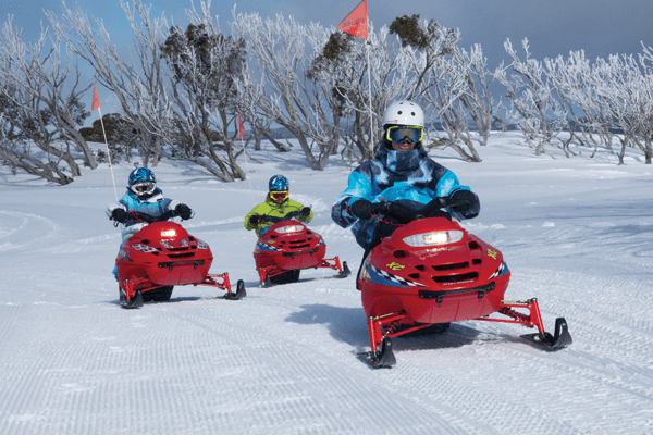 Kid's snowmobile track © Mark Steven / Hotham TV courtesy SnowStuff Park