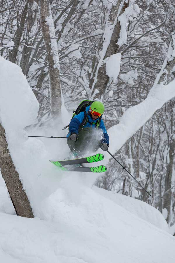 Madarao's tree skiing is legendary, helped by the terrain modifications they add in over summer © Madarao