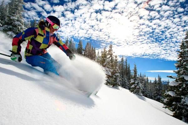 Skiing Blue Sky Basin at Vail