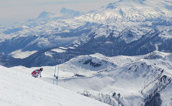 French Alpine Team training © Owain Price