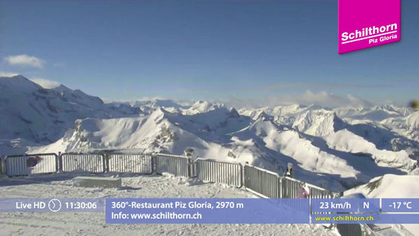 The view from the top - Schilthorn at 2970m