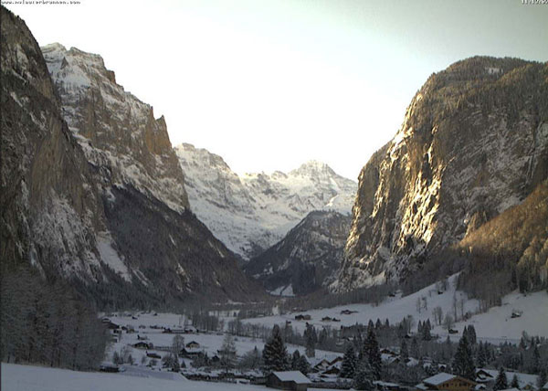 And the bottom, in the glacial valley of Lauterbrunnen