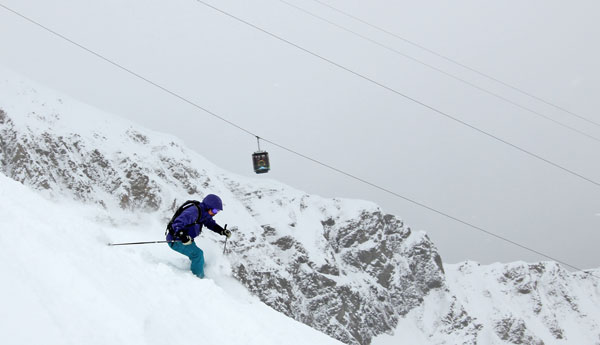 Montana girls rock: Gracely Speth competes free skiing winter & rodeo summer © Owain Price