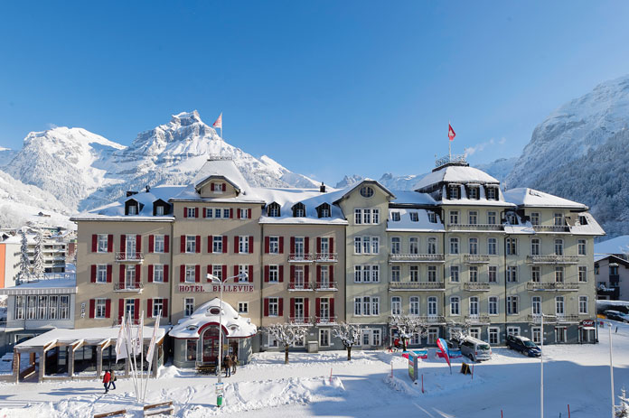 Hotel Bellevue Engelberg in winter