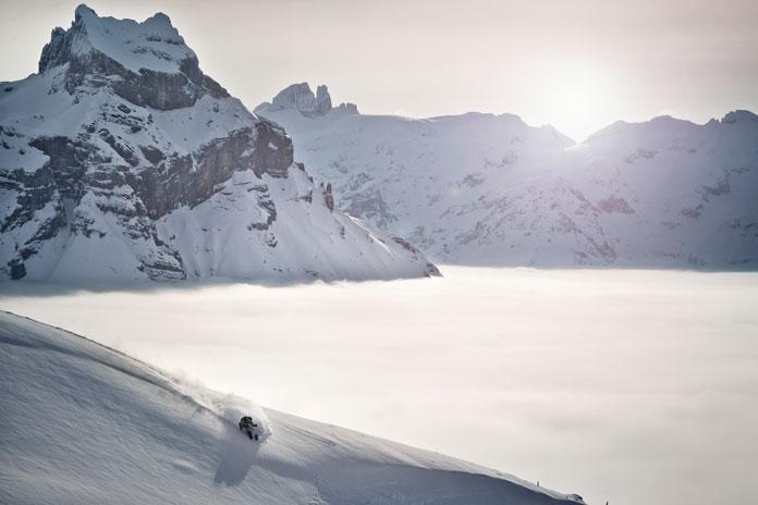 Freeride skiing in Engelberg-Titlis