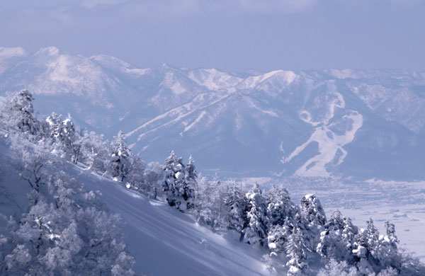 Furano from the Tokachi Mountains
