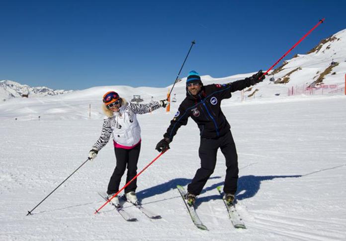 Ski lesson Verbier