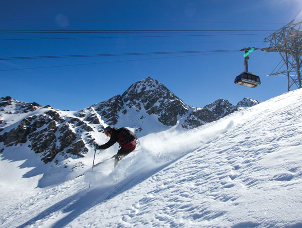 Guide skiing Verbier
