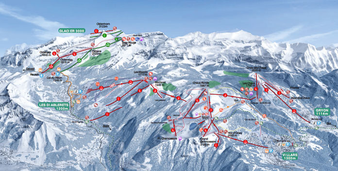 Les Diablerets new trail map
