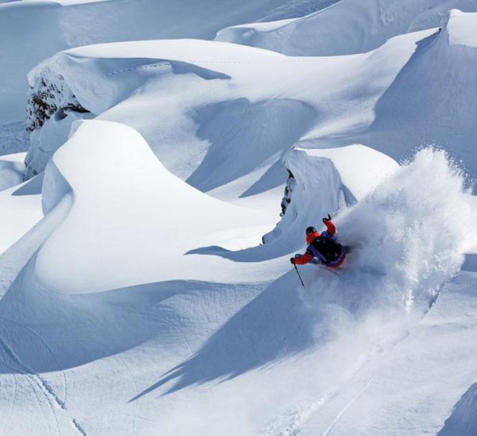 Skiing the glaciers Zermatt