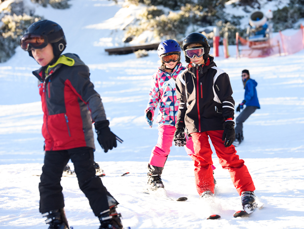 kids skiing at Mt Baw Baw
