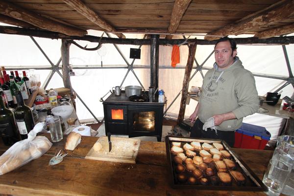 wood stove cooking Mallin Alto
