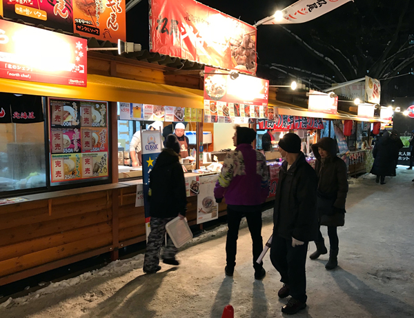 Sapporo Ice Festival street food stall