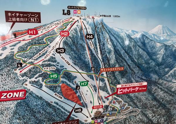 Sapporo Teine lift map