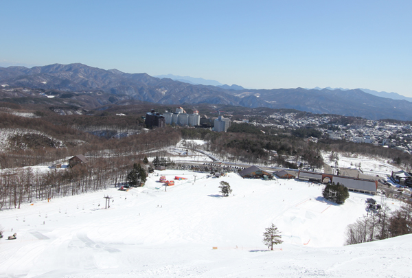 Kusatsu Now Resort viewed from the ski slopes