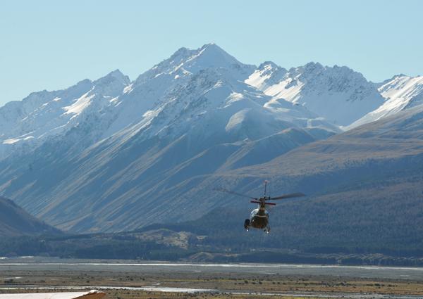 take off at Mt Cook Heliski