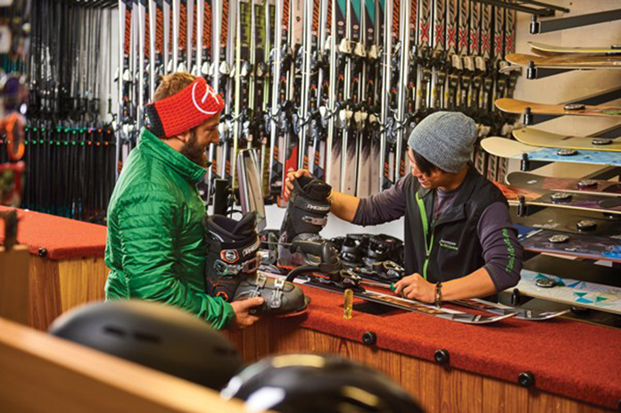 Ski hire and workshop at Hotel Pension Grimus