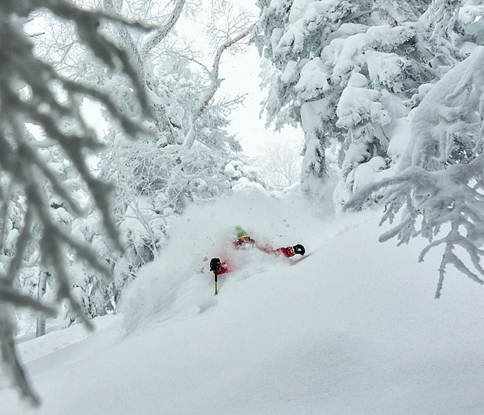 Chest deep snow at Shiga