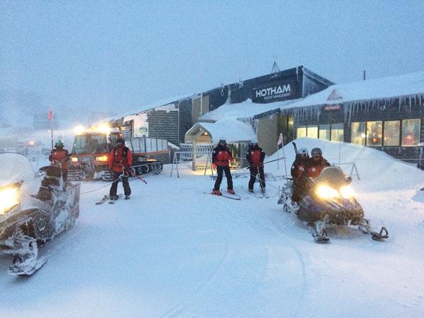 Ski Patrol head out at Hotham
