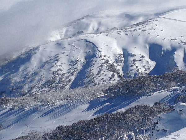Avalanches Hotham sidecountry