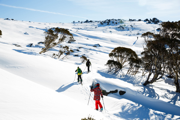 Heading out into Thredbo backcountry