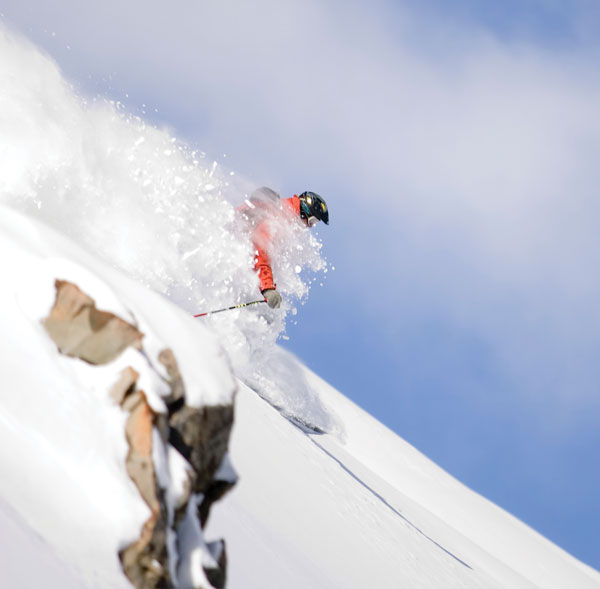 freeskiing at Mt Olympus