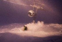 night skiing at Niseko