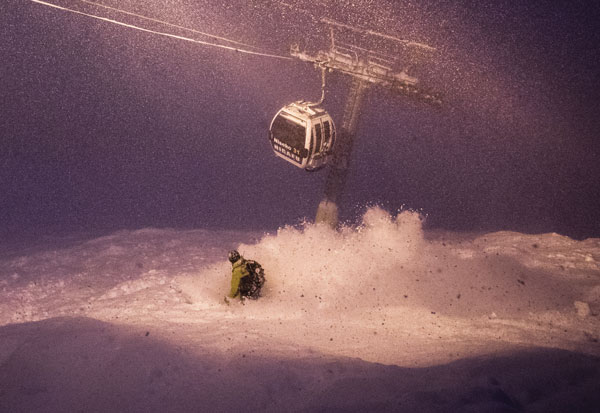 Niseko nights are perfect for fresh tracks