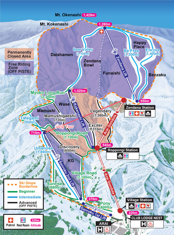 Lotte Arai Resort trail map