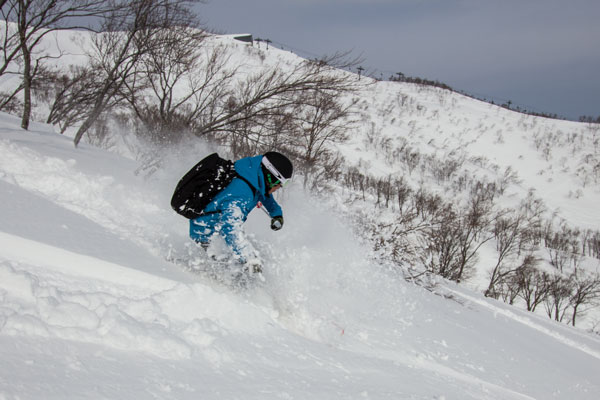 lower freeride zones at Lotte Arai Resort