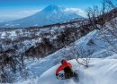 riding deep powder at Hanazono