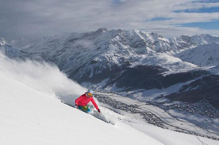 powder skiing Livigno