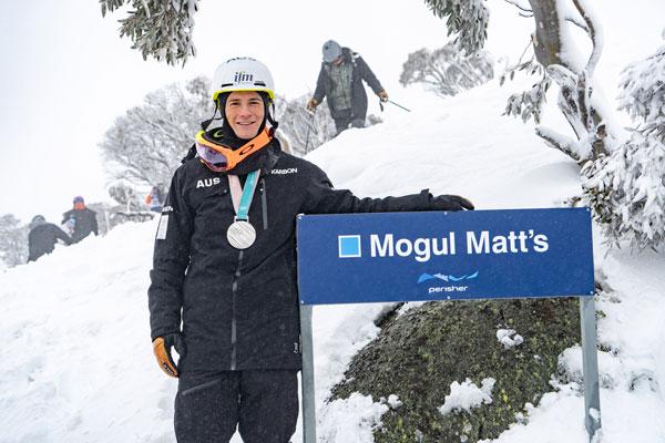 Matt Graham at his signature run Mogul Matts at Perisher
