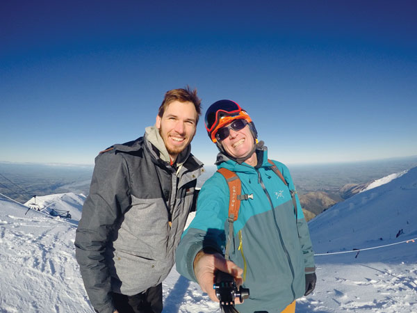 summit selfie Mt Hutt