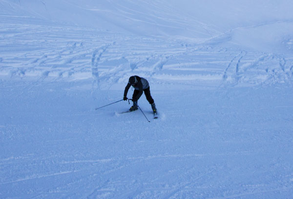 Learning to ski at Ohau