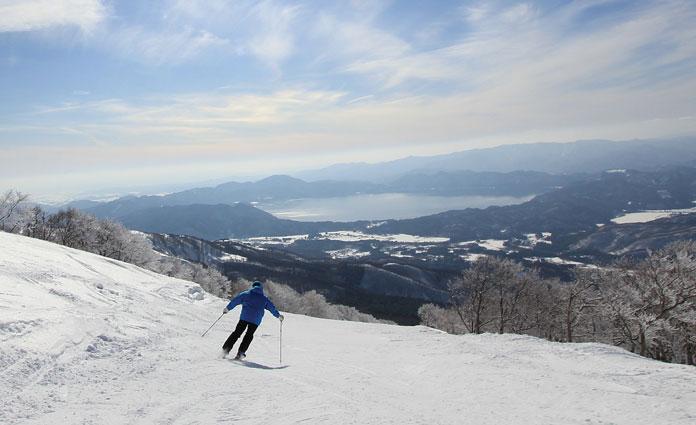 Skiing at Tazawako