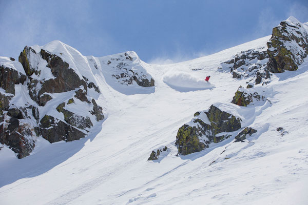 Steep line at Peak 6 Breckenridge