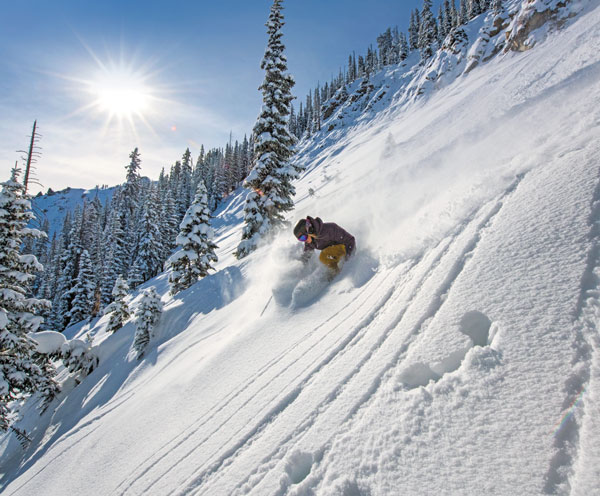 Steep powder at Crested Butte