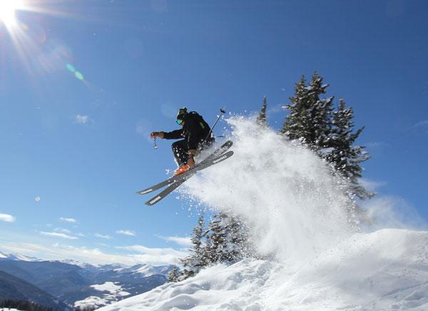 Skiing Vail BackBowls