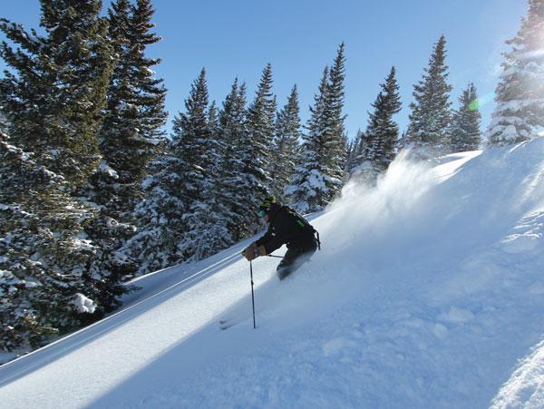 Powder skiing Blue Sky Basin at Vail