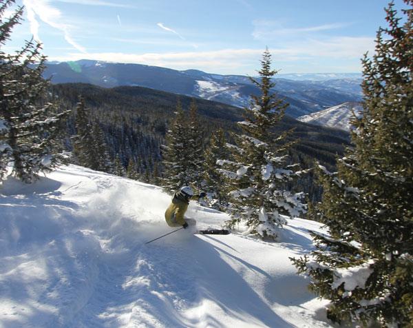 Skiing to Minturn at Vail